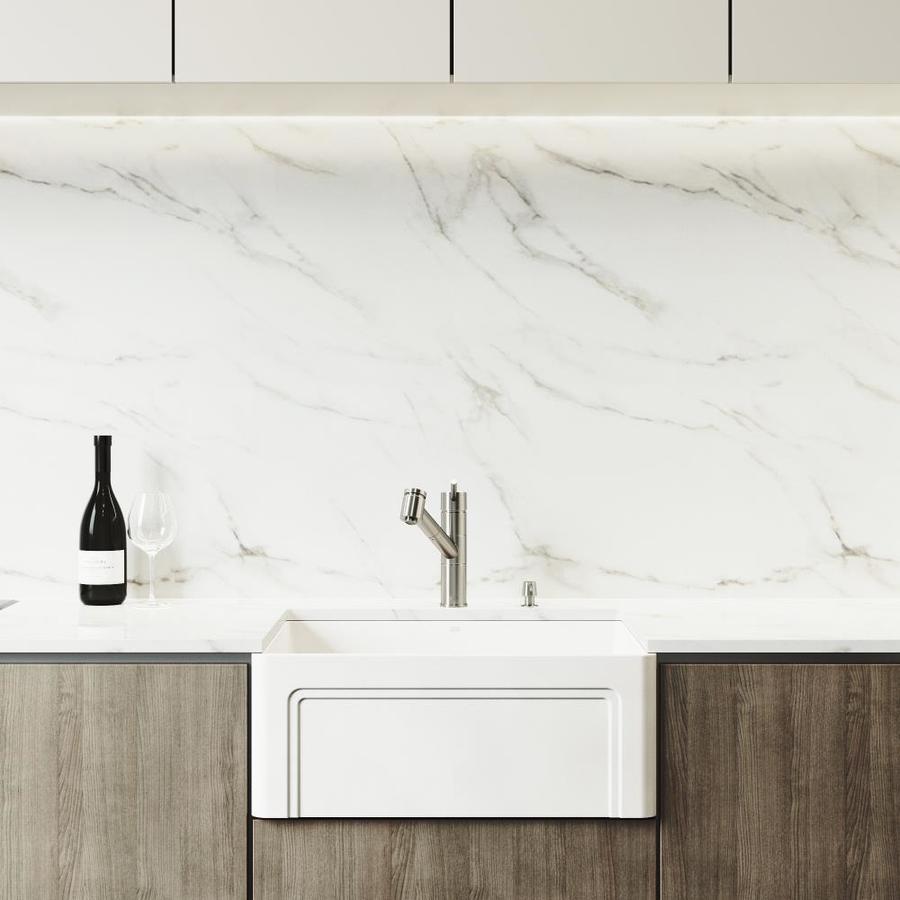 vigo matte stone farmhouse apron front 24 in x 18 in matte white single bowl workstation kitchen sink all in one kit
