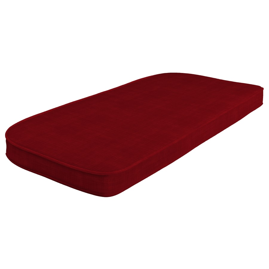 style selections valleydale red patio bench cushion