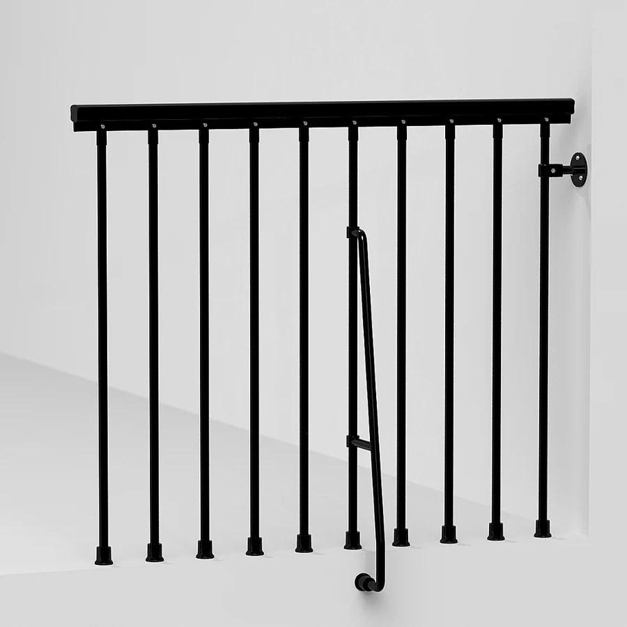 Steel Stair Railing Stair Railing Kits At Lowes Com | Lowes Metal Stair Railing | Lowes Com | Aluminum Railing | Composite Deck Stair | Handrail Kit | Wood