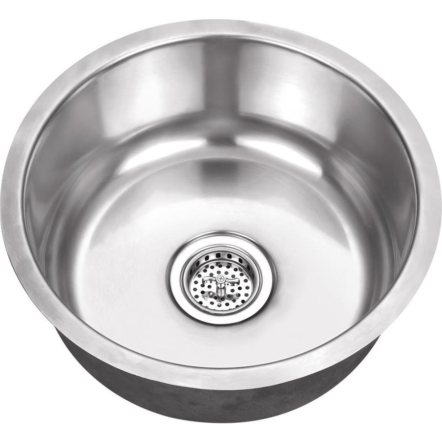 superior sinks 16 25 in l x 16 25 in w brushed satin stainless steel undermount residential bar sink