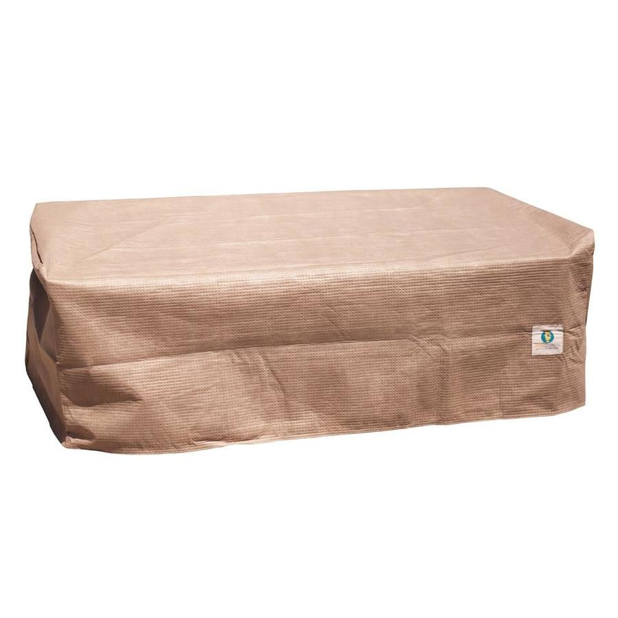 duck covers elite cappuccino polyethylene patio furniture cover