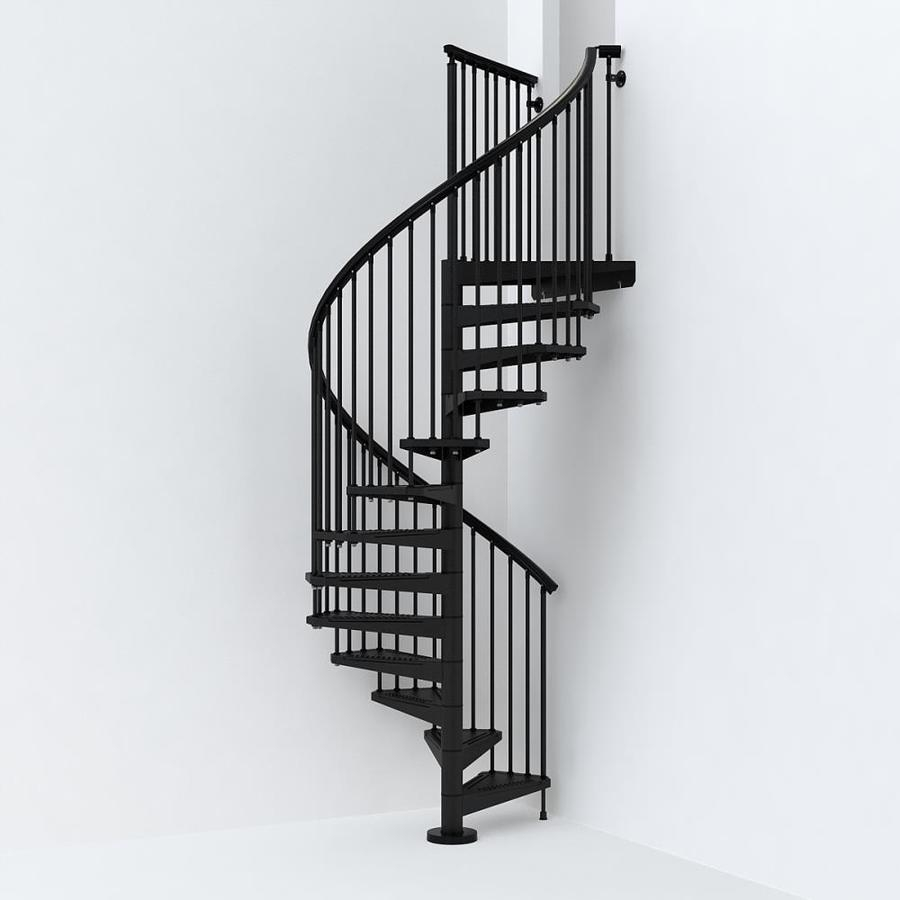 Arke Sky030 55 In X 10 Ft Black Spiral Staircase Kit In The   Black Metal Spiral Staircase   Spiral Stairs   Cat Spiral   Arke   Abandoned   Circle Metal