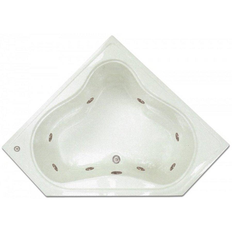 white acrylic corner center drain drop