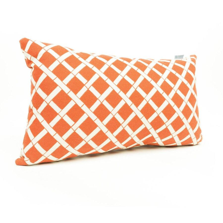 majestic home goods geometric burnt orange bamboo rectangular lumbar pillow