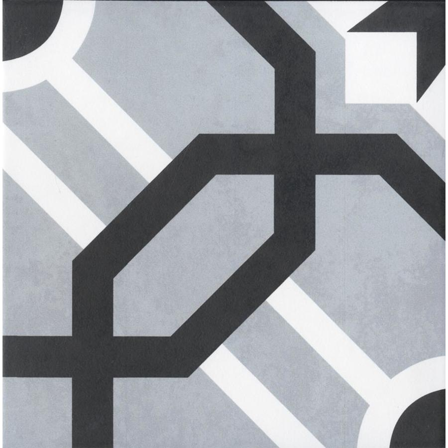 floors 2000 blue 8 in x 8 in glazed porcelain encaustic floor tile