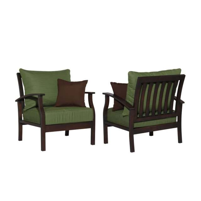allen + roth set of 2 eastfield aluminum patio chairs with solid
