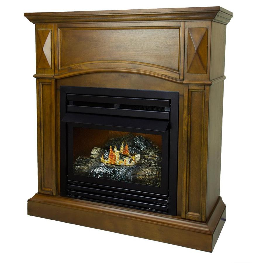 Pleasant Hearth 35 75 In Heritage Ventless Natural Gas Fireplace In The Gas Fireplaces Department At Lowes Com