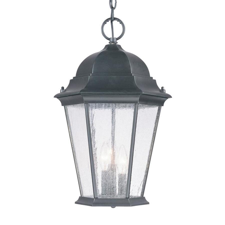 acclaim lighting richmond matte black traditional seeded glass lantern pendant light
