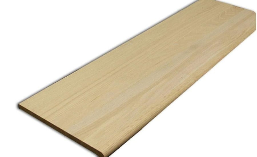 Treads Risers At Lowes Com | Prefinished Hickory Stair Treads And Risers | Stair Parts | Hickory Natural | Stairtek | Natural Prefinished | Oak Stair Nosing
