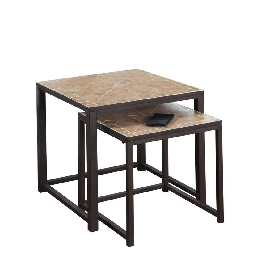 piece terracotta accent table