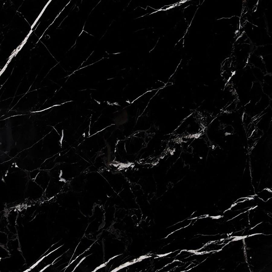 Shop Bermar Natural Stone Black Marble Honed Marble Floor