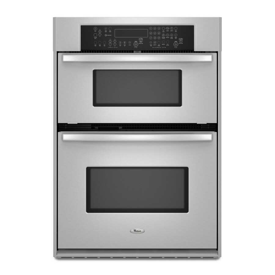 whirlpool 26 34 inch microwave wall oven combo color stainless steel