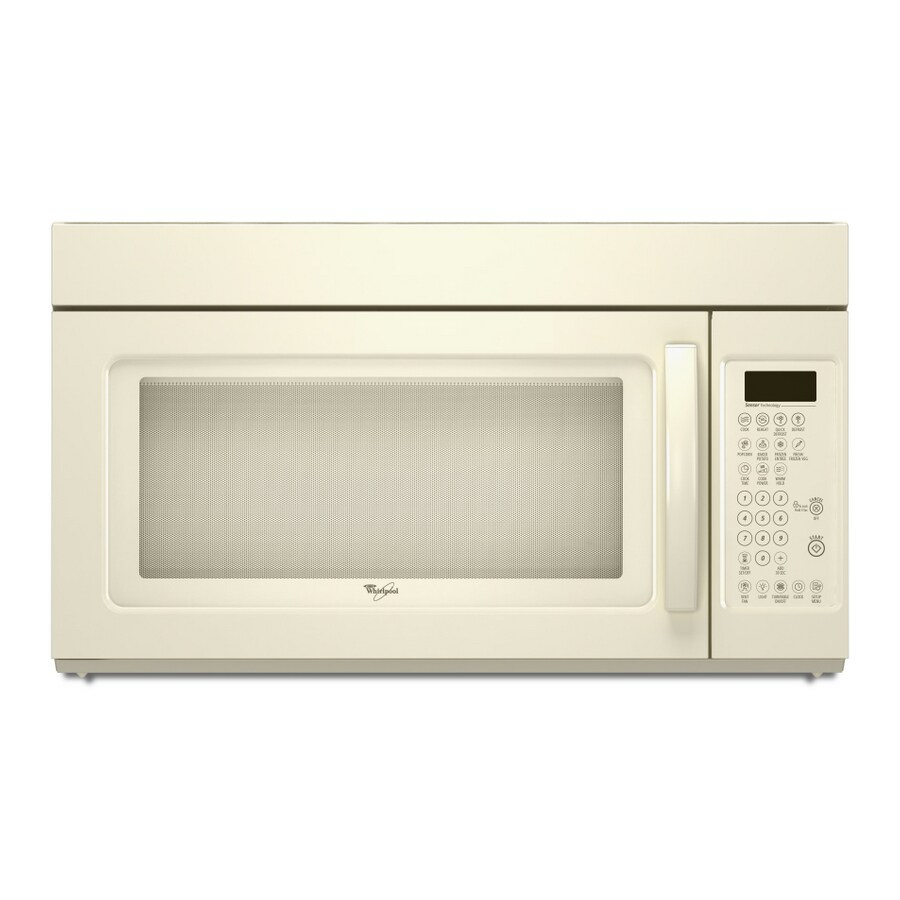 whirlpool 1 7 cu ft over the range microwave with sensor cooking beige