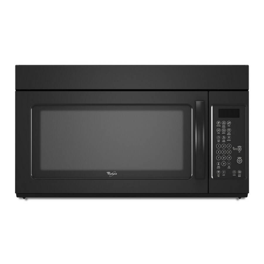 whirlpoola 1 6 cu ft over the range microwave color black