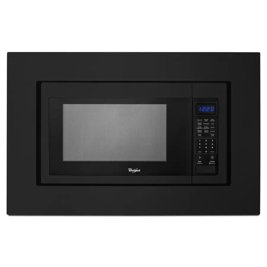 whirlpool countertop microwave trim kit black