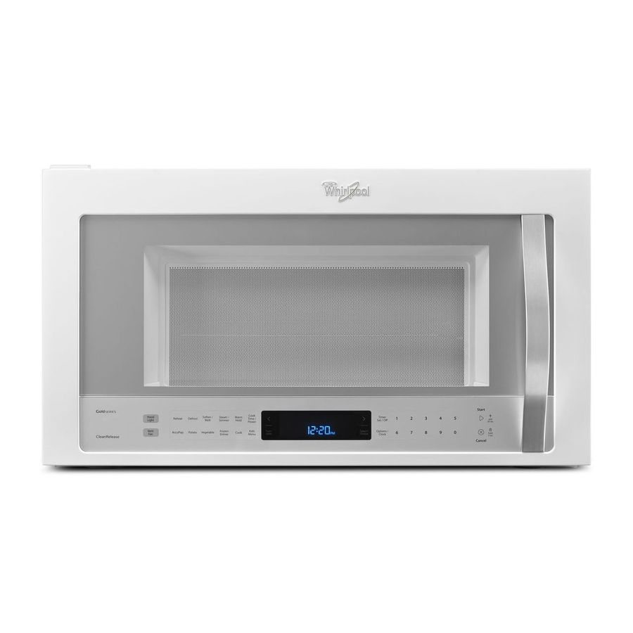 whirlpool white ice 2 1 cu ft over the range microwave with sensor cooking controls white ice common 30 in actual 29 93 in