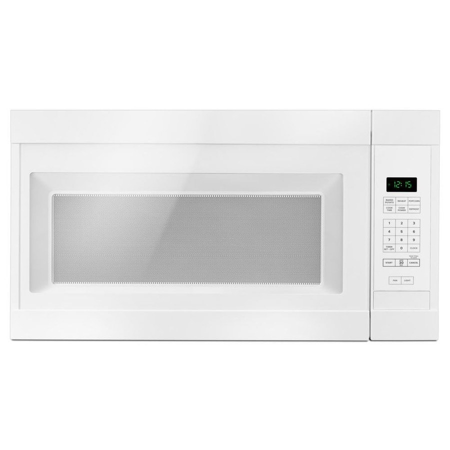 amana 1 6 cu ft over the range microwave white