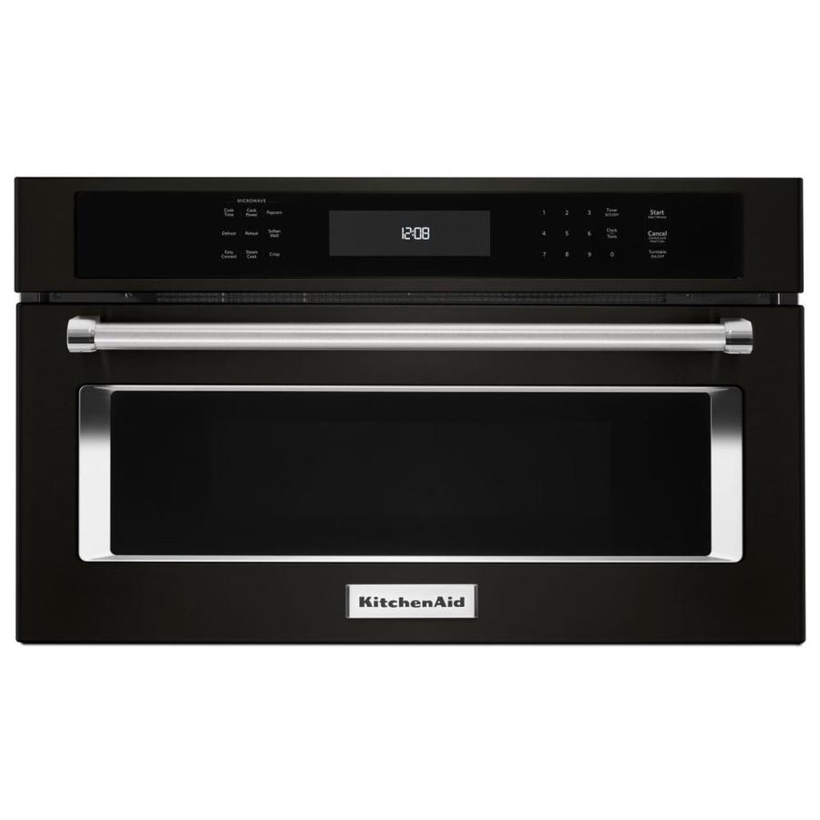 kitchenaid 1 4 cu ft built in microwave with sensor cooking controls and speed cook black stainless with printshield