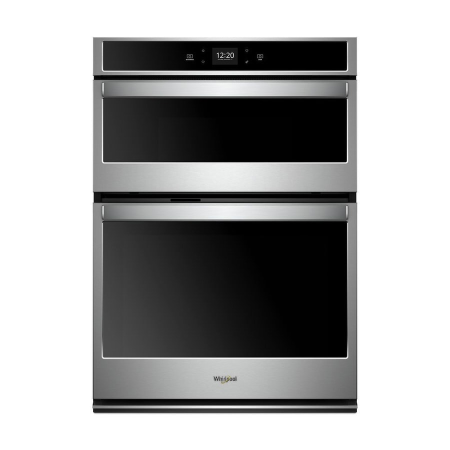 whirlpool 30 in self cleaning microwave wall oven combo stainless steel lowes com