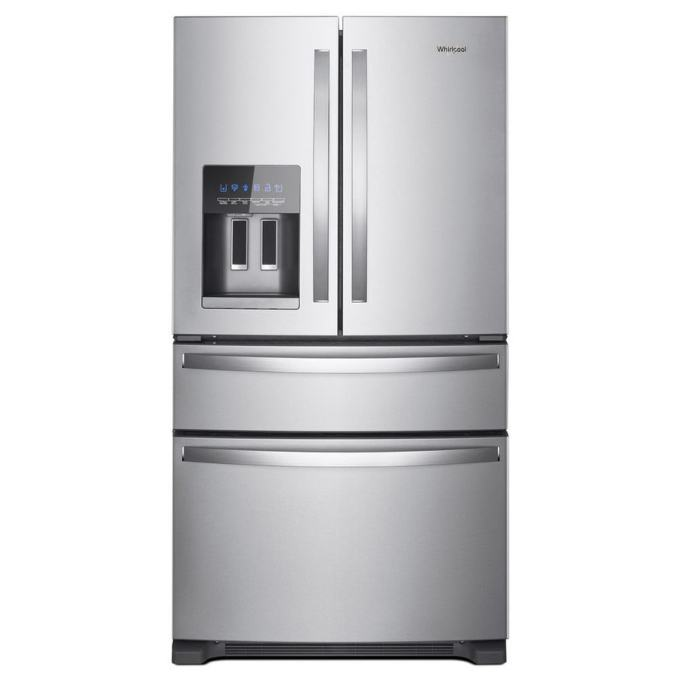 Whirlpool 24.5-cu ft 4-Door French Door Refrigerator with Ice Maker (Fingerprint-Resistant Stainless Steel) ENERGY STAR