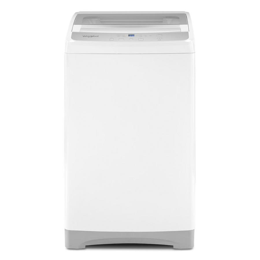 whirlpool 1 6 cu ft compact top load washer with flexible installation white