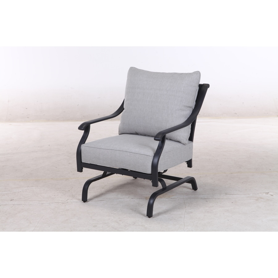 Style Selections Elliot Creek Set Of  Metal Conversation Chairs With Gray Olefin Slat Seat