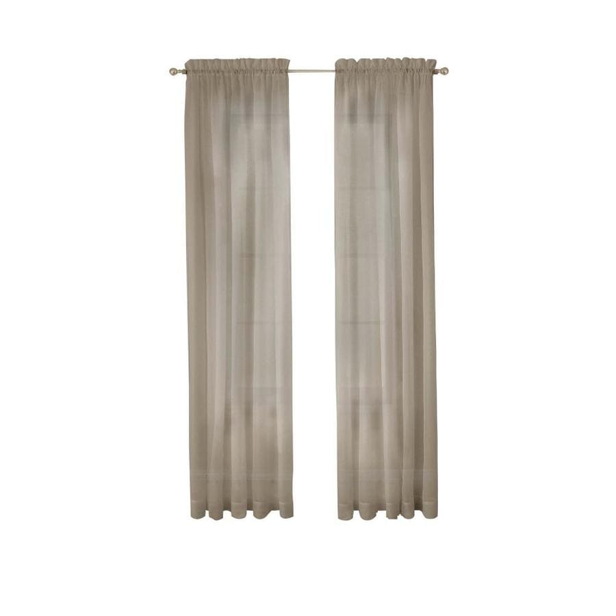 pairs to go 95 in taupe polyester sheer rod pocket curtain panel pair