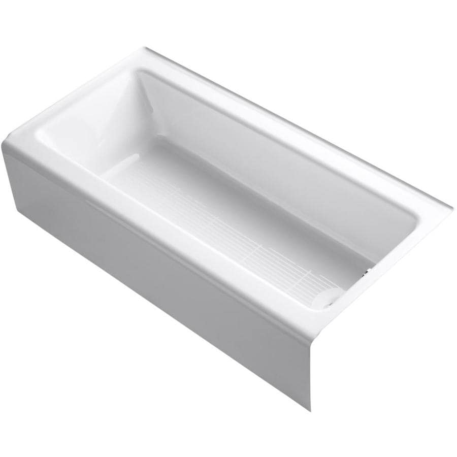 Shop KOHLER Bellwether 60 In White With Right Hand Drain At
