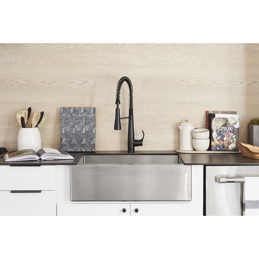 kohler strive farmhouse apron front 29 5 in x 21 25 in stainless steel single bowl kitchen sink
