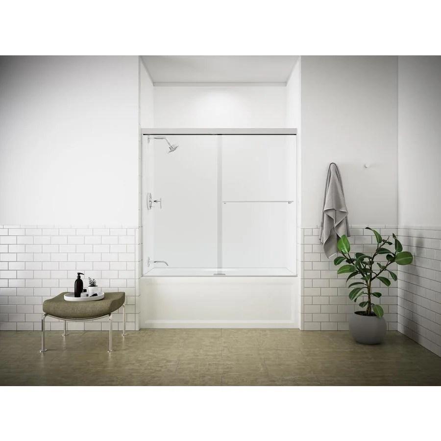 இ KOHLER Revel 59.625-in W x 55.5-in H Frameless Bathtub Door - a33