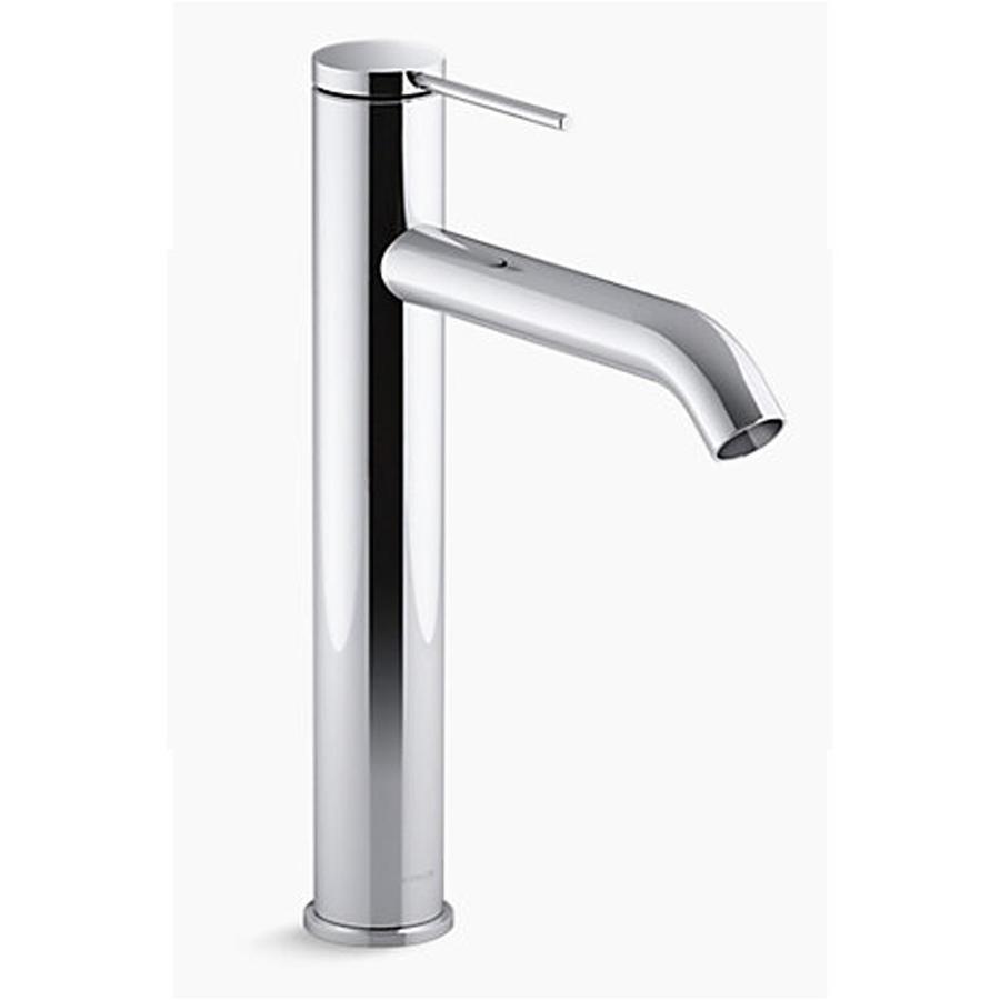kohler components polished chrome 1 handle single hole watersense bathroom sink faucet with drain