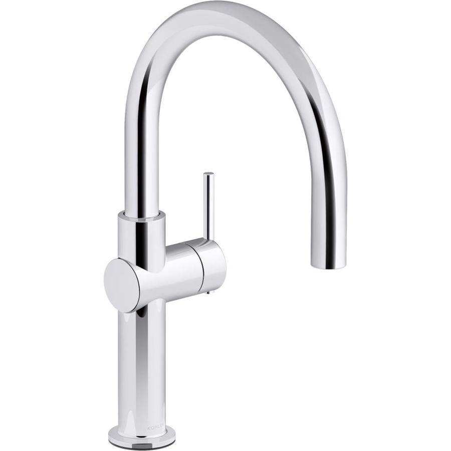 Home house & components fixtures faucets not many things in the kitchen get more use. KOHLER Crue Polished Chrome 1-Handle Deck Mount Bar and ...