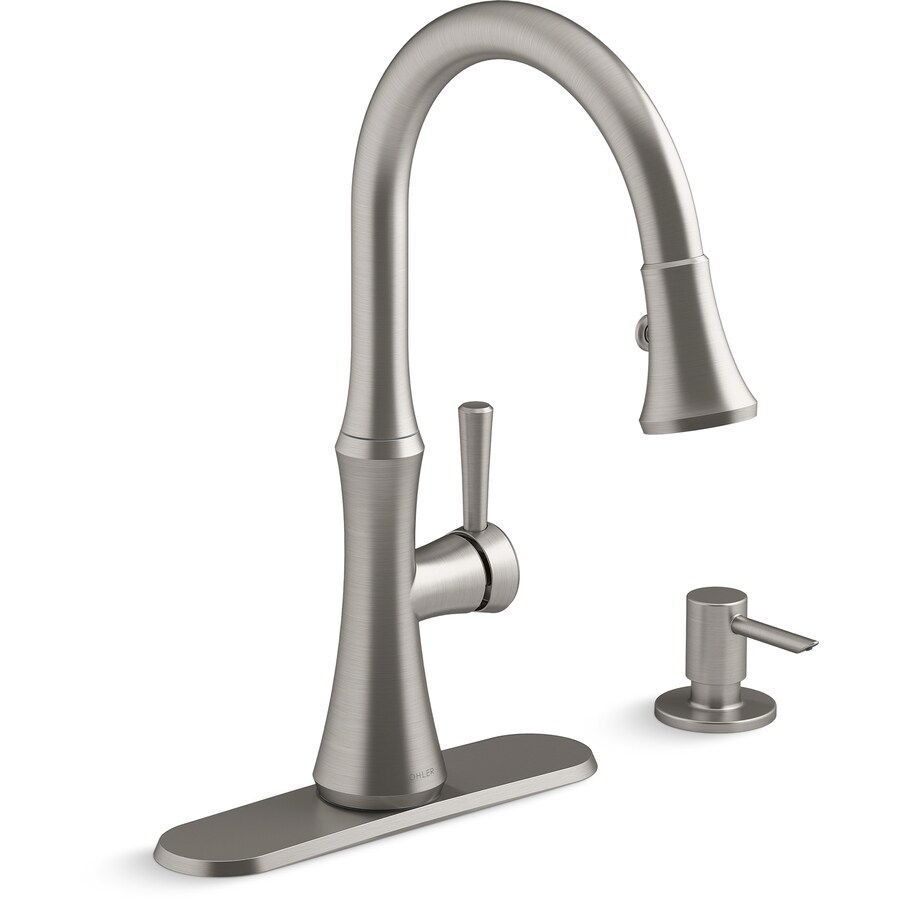 Country living editors select each product featured. KOHLER Kaori Vibrant Stainless 1-Handle Deck Mount High ...