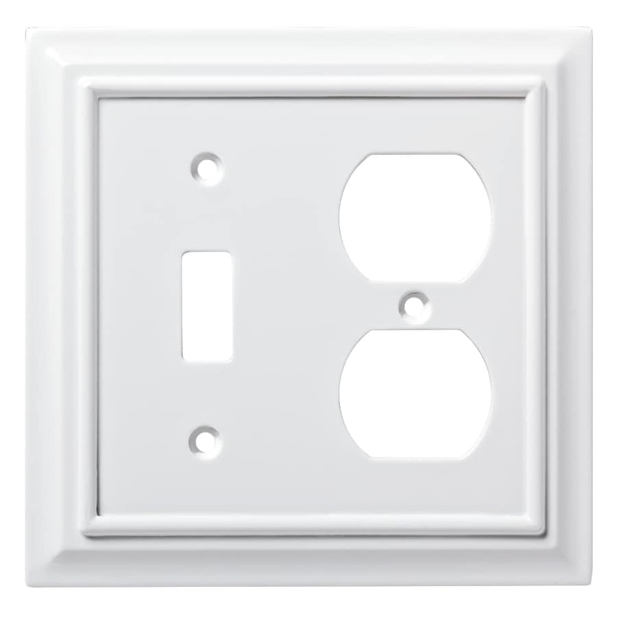 2 Gang Double Duplex Decorator Toggle Wall Plate