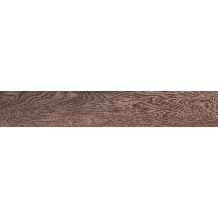 style selections natural timber chestnut 8 in x 48 in glazed porcelain wood look floor and wall tile