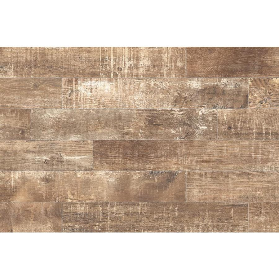 style selections sequoia ballpark 6 in x 36 in glazed porcelain wood look floor and wall tile