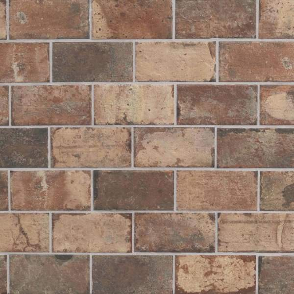 Shop Style Selections Broadmeadow Brick Broadmeadow Brick Porcelain     Style Selections Broadmeadow Brick Broadmeadow Brick Porcelain Slip  Resistance Floor and Wall Tile  Common