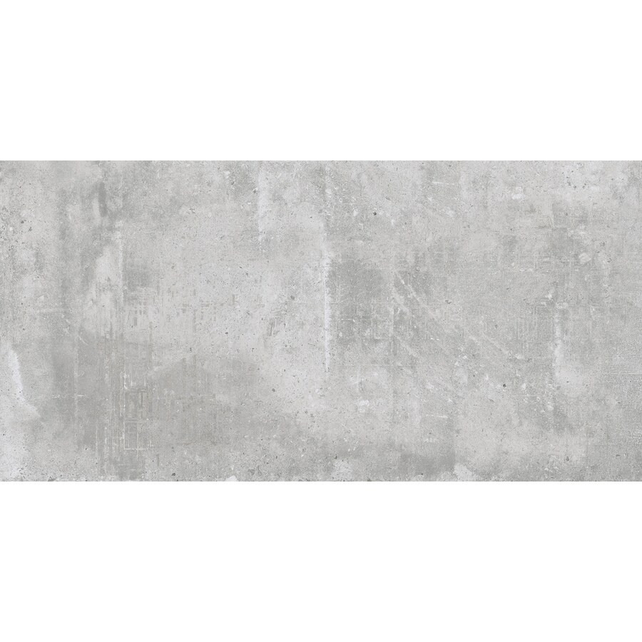 american villa cityscape gray 12 in x 24 in glazed porcelain cement look floor and wall tile lowes com