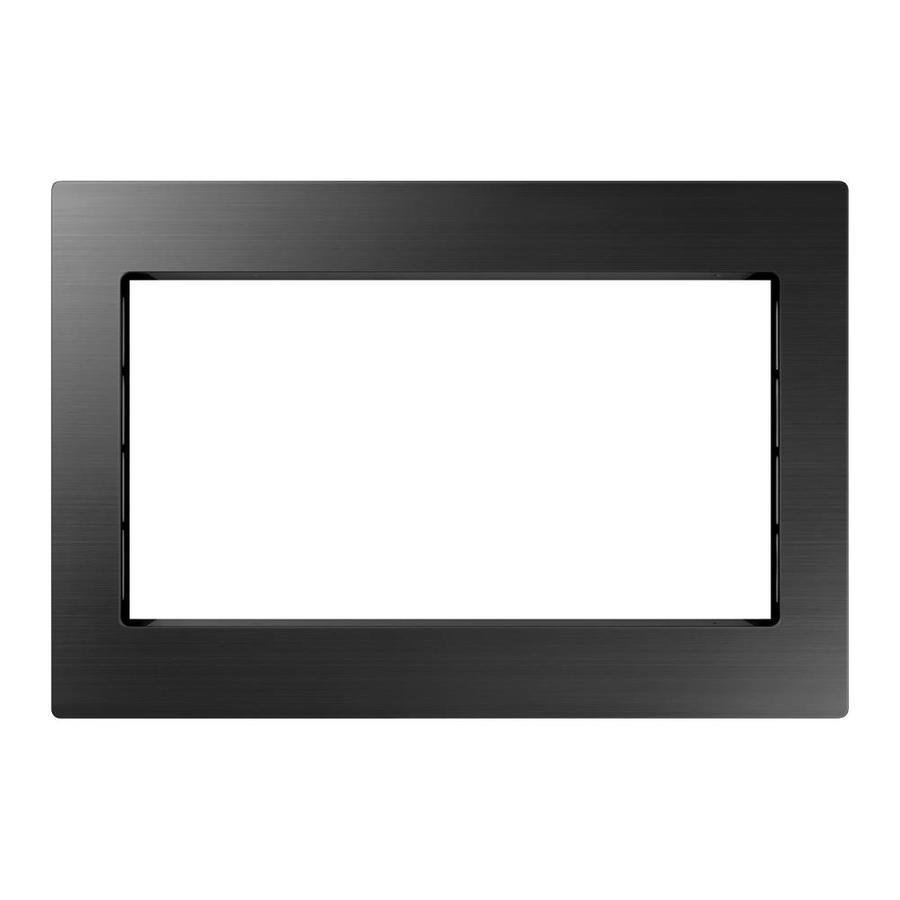samsung countertop microwave trim kit black stainless steel