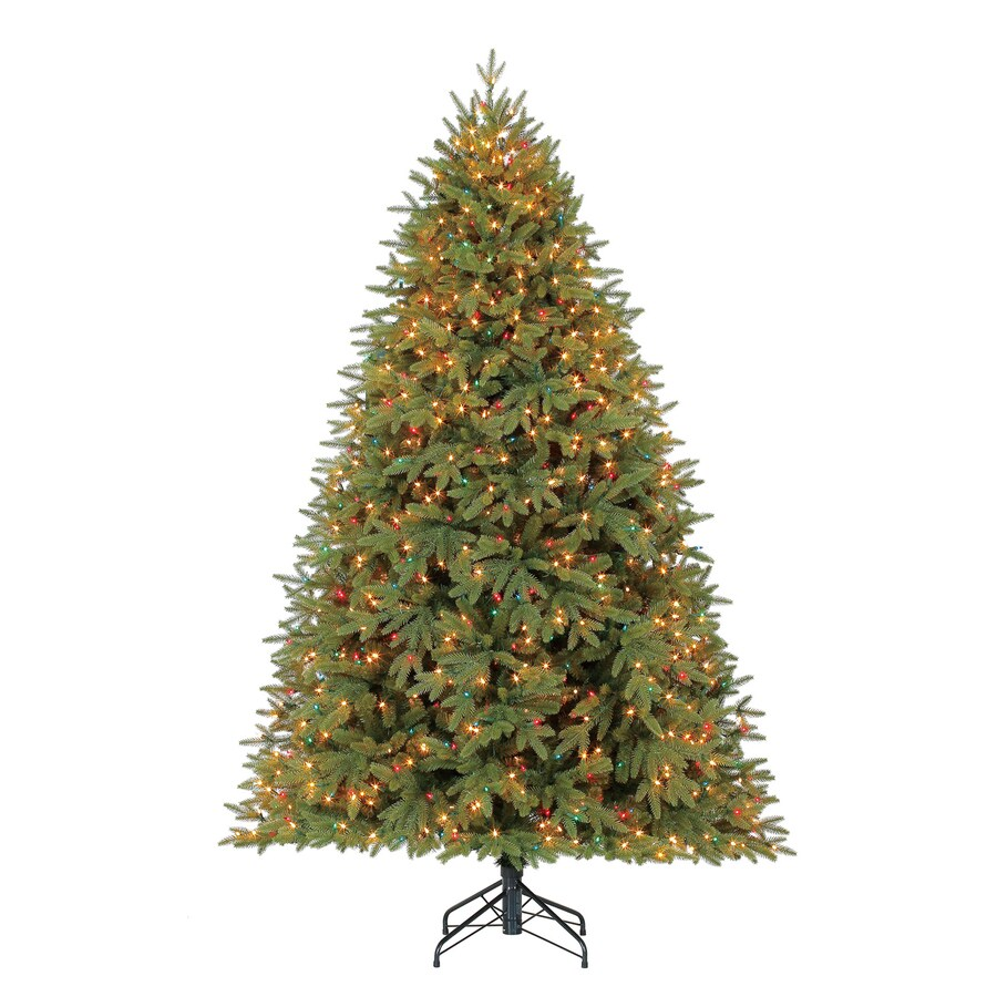 7 5 Foot Artificial Christmas Tree Multicolor Lights