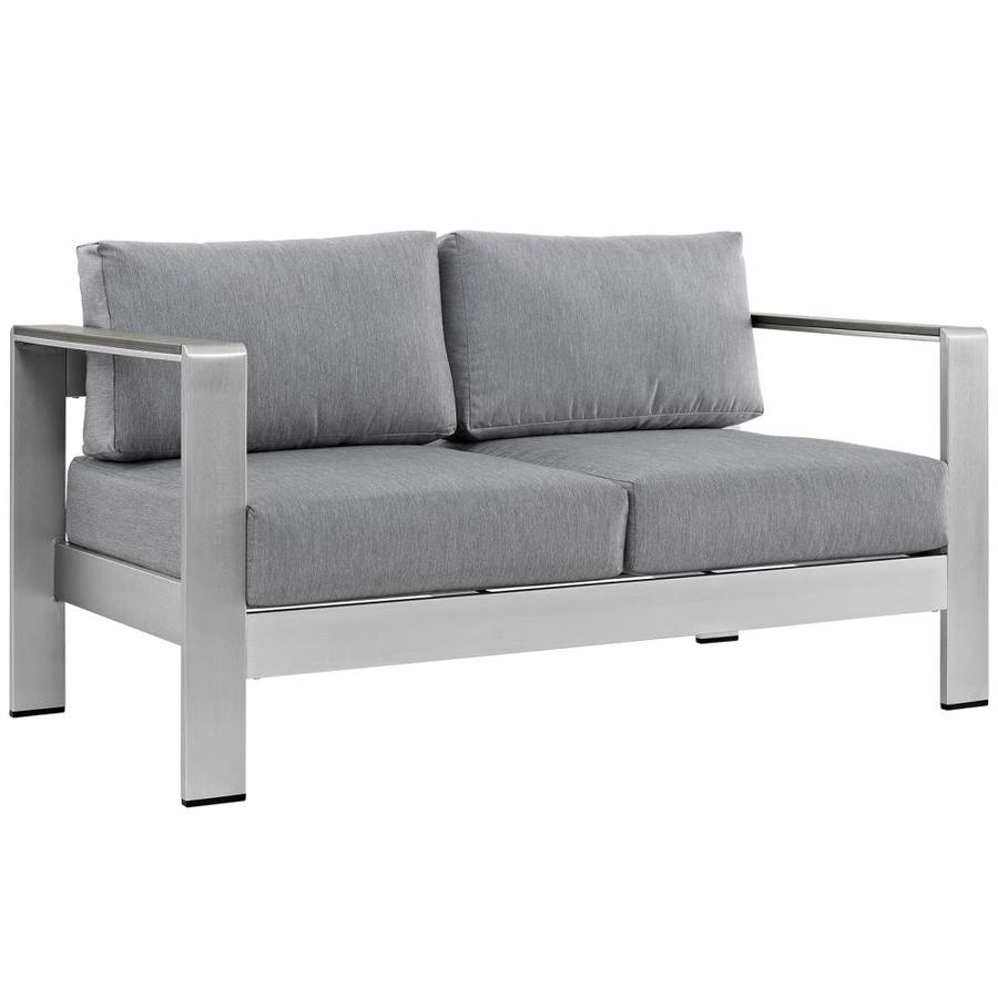 modway shore outdoor loveseat with
