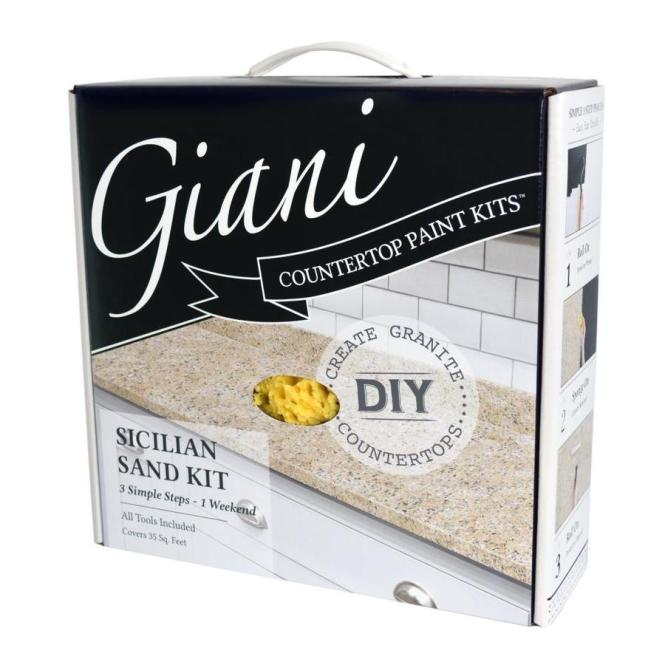 Giani Countertop Transformations Sicilian Sand High Gloss Resurfacing Kit Actual Net Contents
