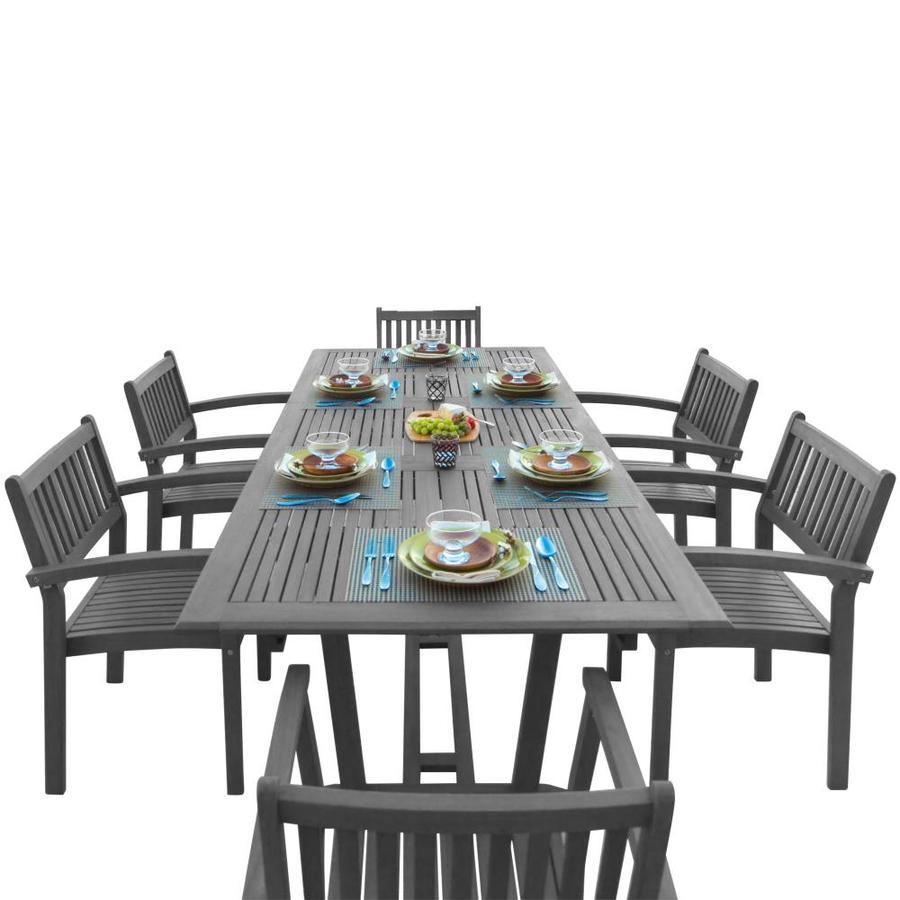 vifah vifah renaissance 7 piece gray frame patio set with