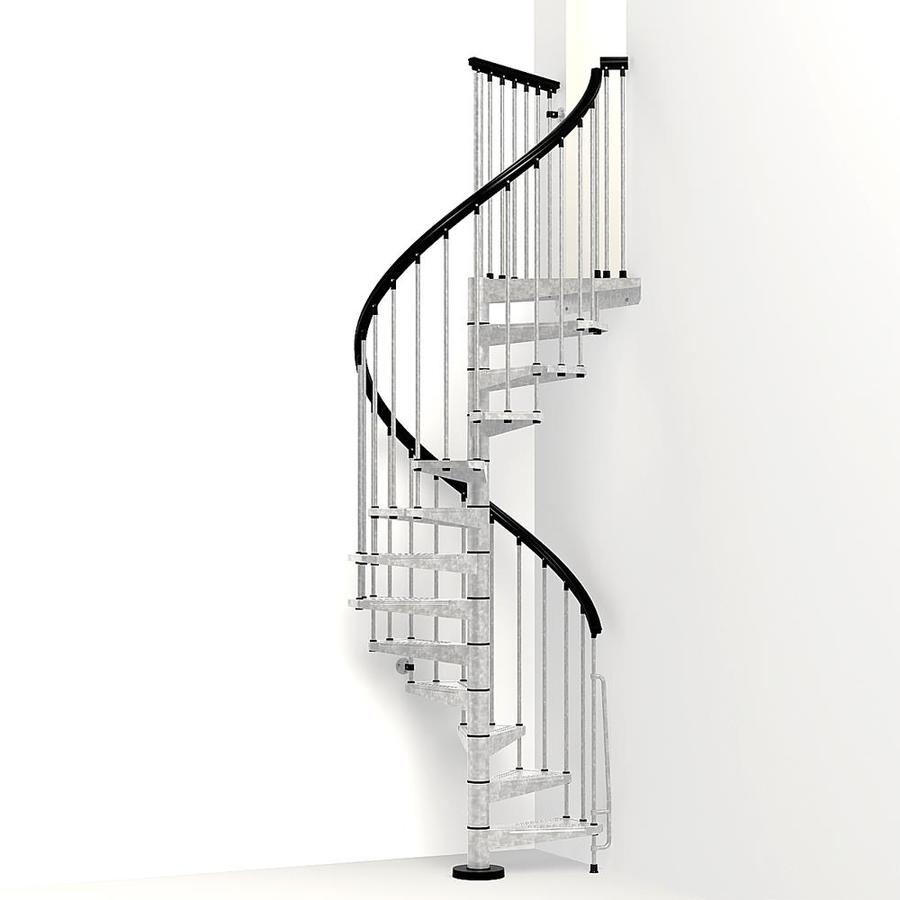 Arke Enduro 47 In X 10 Ft Gray Spiral Staircase Kit At | Spiral Staircase 10 Feet