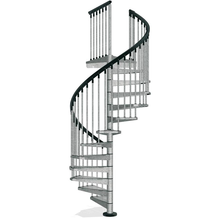 Arke Enduro 55 In X 10 Ft Gray Spiral Staircase Kit At   Steel Spiral Staircase Price