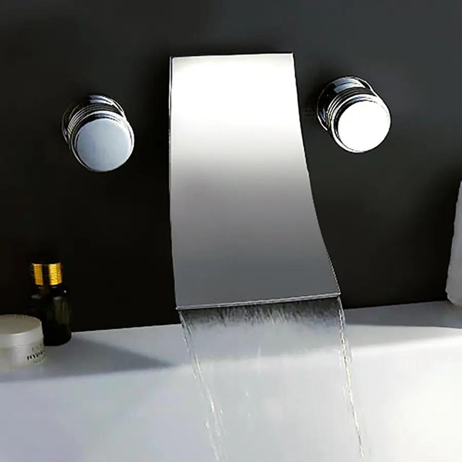 Shop Kokols USA Polished Chrome 2 Handle Fixed Wall Mount