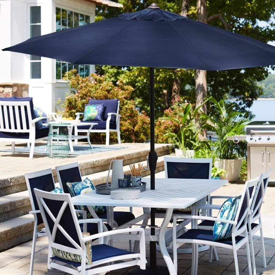 7 piece white patio dining set at lowes