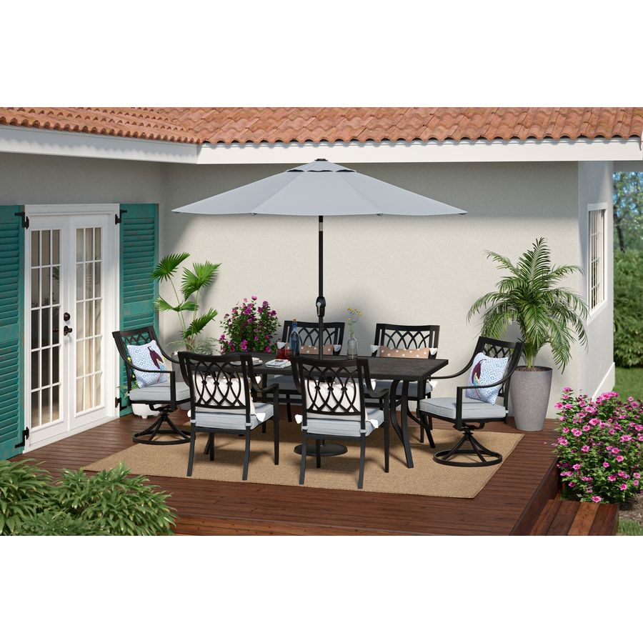 allen roth aspen grove 7 piece patio dining set