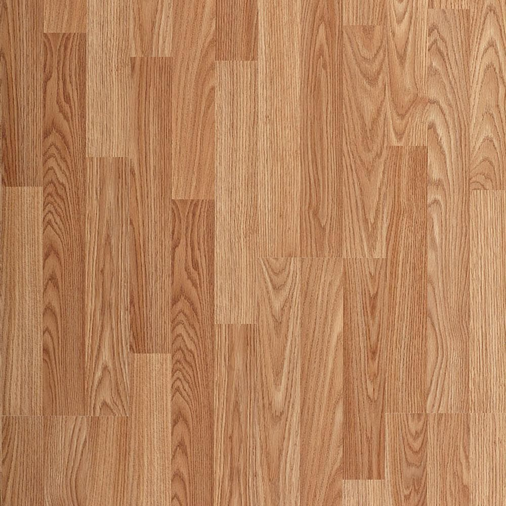 style selections natural oak 8 05 in w x 47 63 in l smooth wood plank laminate flooring 23 97 sq ft lowes com
