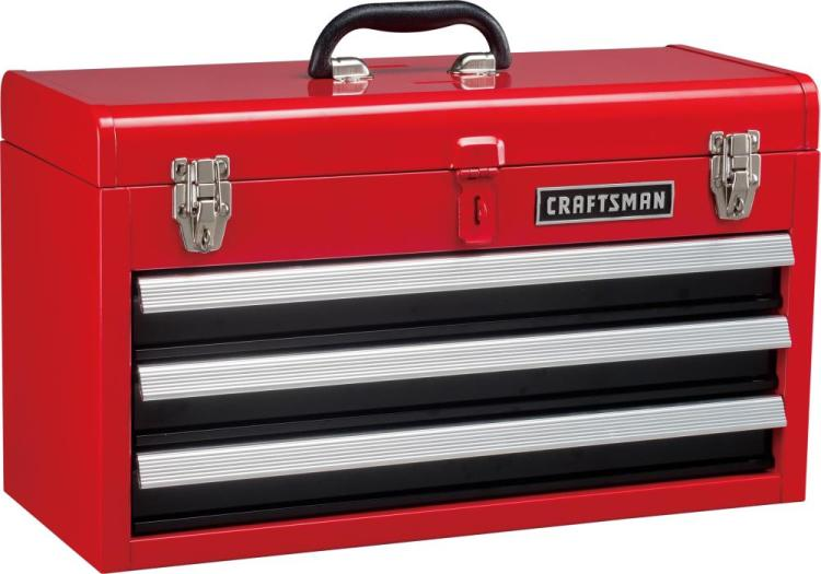 CRAFTSMAN Portable 20.5-in Ball-bearing 3-Drawer Red Steel Lockable Tool Box  in the Portable Tool Boxes department at Lowes.com